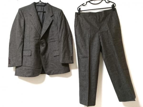 LONNER(ロンナー) シングルスーツ サイズ96 メンズ美品  ダークグレー×ブラウン