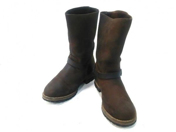 J.CREW(ジェイクルー) ブーツ 7 1/2 レディース ダークブラウン レザー