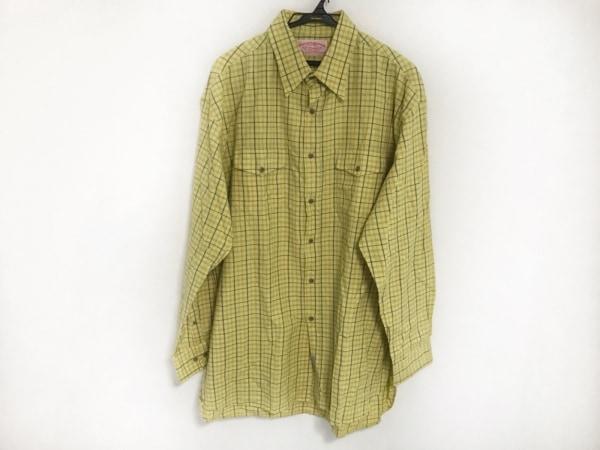 フィルソン 長袖シャツ サイズXL メンズ イエロー×ネイビー×マルチ チェック柄