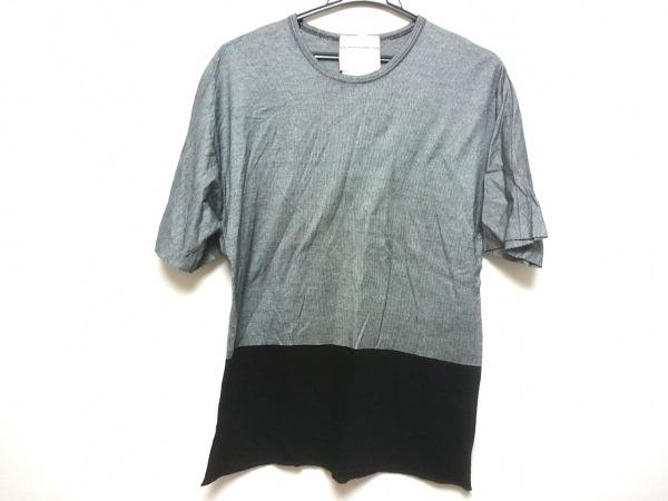 ステファンシュナイダー 半袖カットソー メンズ 黒×白 チェック柄