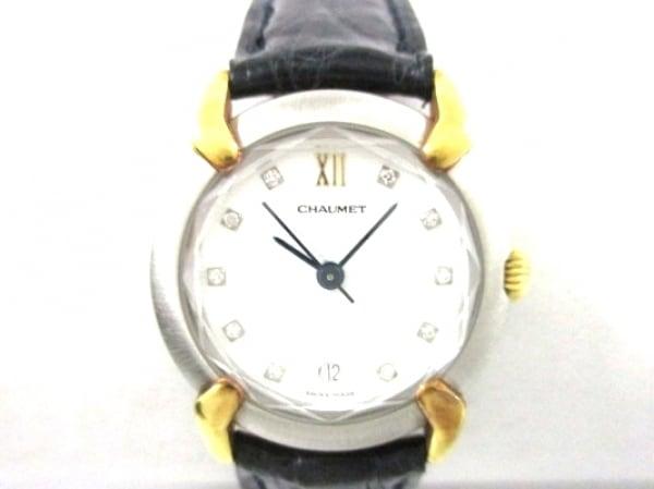 CHAUMET(ショーメ) 腕時計 グリフィス - レディース 10Pインデックスダイヤ 白