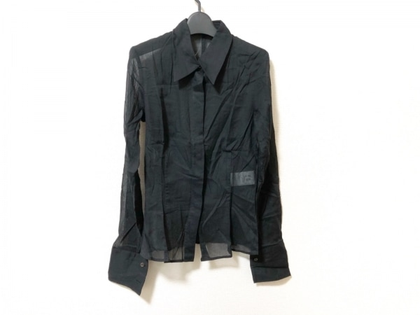 ヒューゴボス 長袖シャツブラウス サイズ36 M レディース美品  黒 シースルー