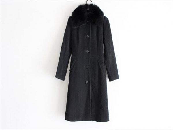 CLATHAS(クレイサス) コート サイズ38 M レディース 黒 冬物/フォックスファー