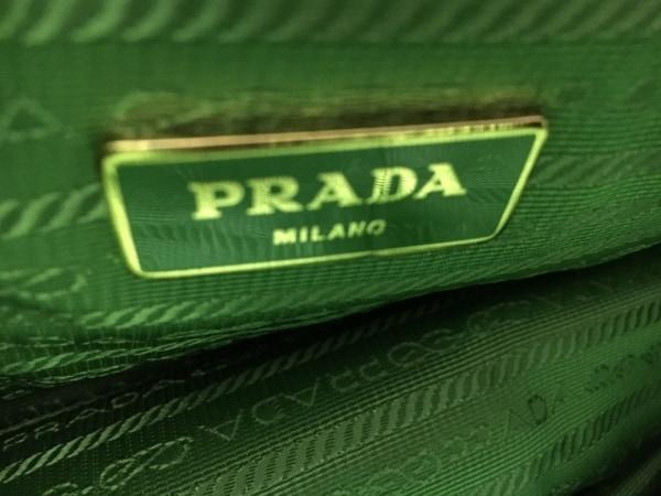 プラダ トートバッグ美品  ラフィアトート グリーン ラフィア 6