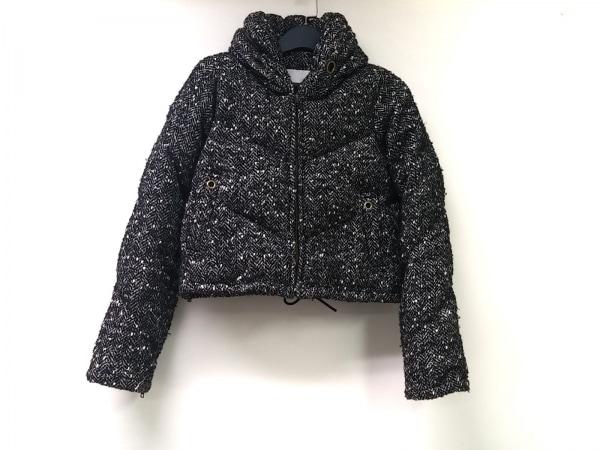アンシャントマン ダウンジャケット サイズ38 M レディース 黒×アイボリー 冬物