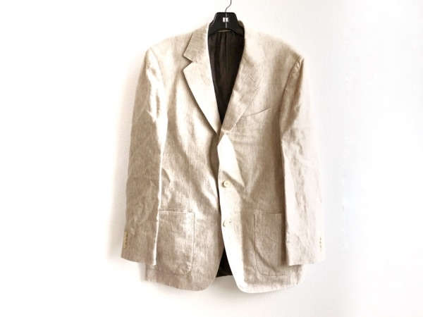 ErmenegildoZegna(ゼニア) ジャケット サイズ48 XL メンズ ベージュ