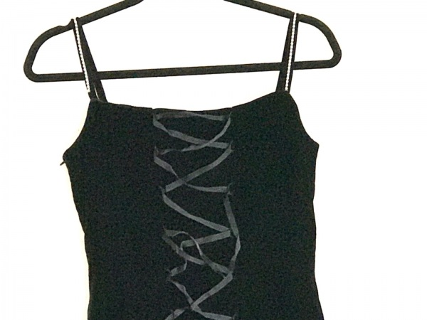 GENETVIVIEN(ジュネビビアン) ドレス レディース 黒 ベロア