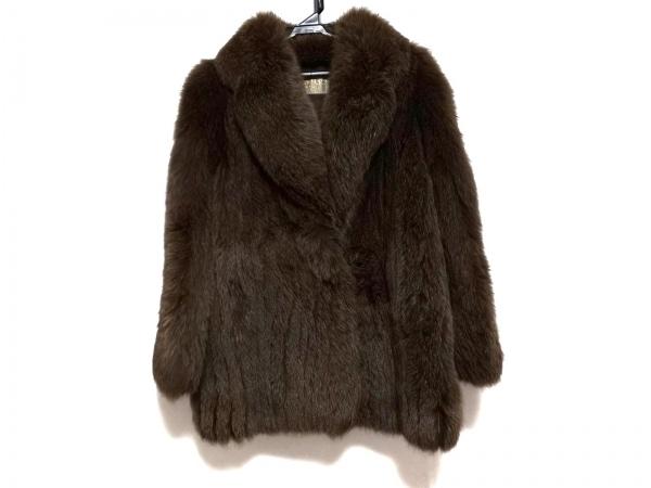 SAGA FOX(サガフォックス) コート サイズ9 M レディース ダークブラウン 冬物