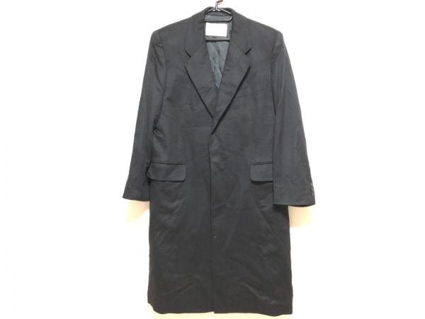 BALMAIN(バルマン) コート メンズ 黒 ネーム刺繍/冬物