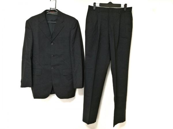 PERSON'S(パーソンズ) シングルスーツ メンズ ダークグレー 肩パッド