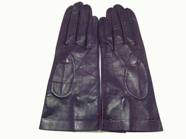 Sermoneta gloves(セルモネータグローブス) 手袋 レディース パープル レザー