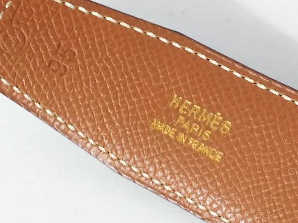 エルメス ベルト 95 エブリン 黒×ブラウン×シルバー シルバー金具/リバーシブル