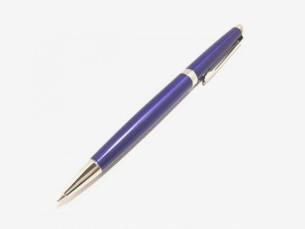 ウォーターマン ボールペン美品  ネイビー×シルバー インクあり(黒) 金属素材