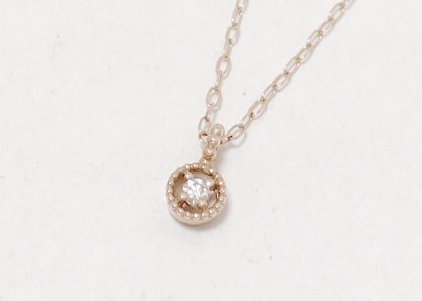 A.D.A(エーディーエー) ネックレス美品  K10×ダイヤモンド 1Pダイヤ/0.02カラット