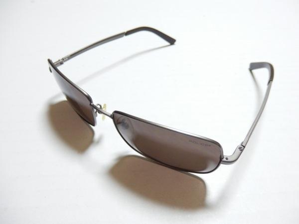 POLICE(ポリス) サングラス S2928 ダークブラウン×シルバー プラスチック×金属素材