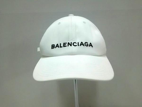 BALENCIAGA(バレンシアガ) キャップ L 白 コットン