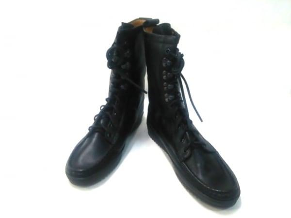 YUKETEN(ユケテン) ブーツ 9 D メンズ美品  黒 レザー