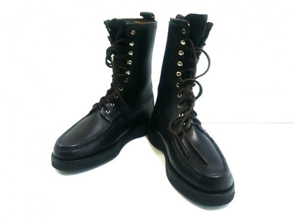YUKETEN(ユケテン) ブーツ 9 メンズ 黒 アウトソール張替済 レザー