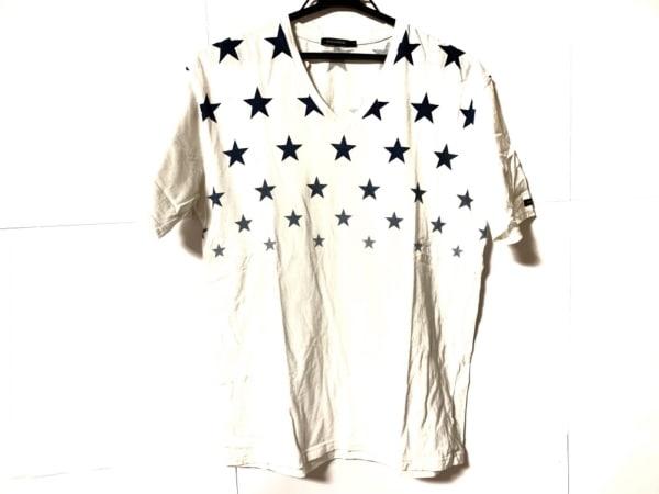 GUILD PRIME(ギルドプライム) 半袖Tシャツ サイズ3 L メンズ 白×ネイビー スター