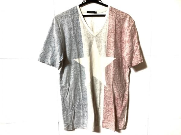 ギルドプライム 半袖Tシャツ サイズ3 L メンズ 白×ブルー×レッド スター