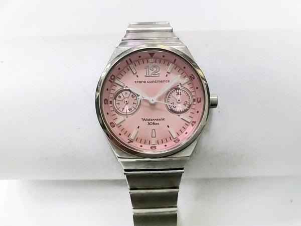 トランスコンチネンス 腕時計 6320-S029350 レディース クロノグラフ ピンク