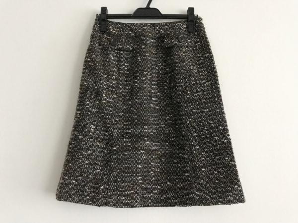 ROCHAS(ロシャス) スカート サイズ9 M レディース美品  黒×ベージュ×白