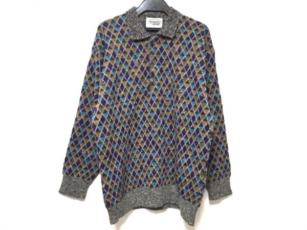 MISSONI SPORT(ミッソーニスポーツ) セーター メンズ グレー×パープル×マルチ