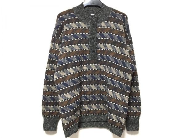 ミッソーニスポーツ 長袖セーター メンズ美品  ブラウン×ネイビー×マルチ
