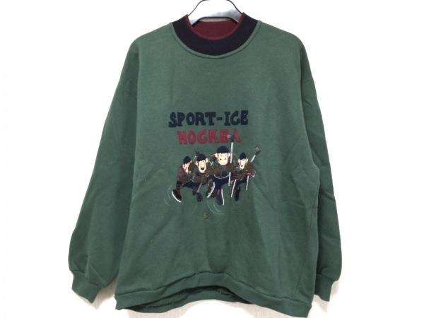 アイスバーグ トレーナー サイズS メンズ グリーン×ネイビー×マルチ 刺繍/SPORT ICE