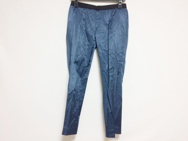 M.Fil(エム.フィル) パンツ サイズ36 S レディース美品  ネイビー×黒 サテン