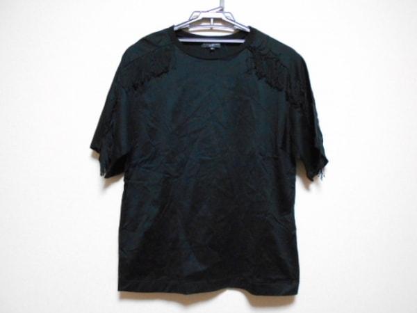 オープニングセレモニー 半袖Tシャツ サイズOS レディース 黒 フリンジ