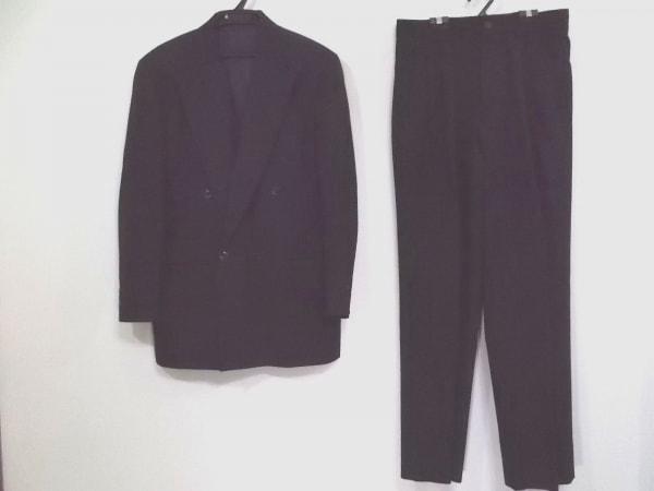 BARREAUX(バルー) ダブルスーツ サイズ48 XL メンズ 黒×グレー EXCLUSIF