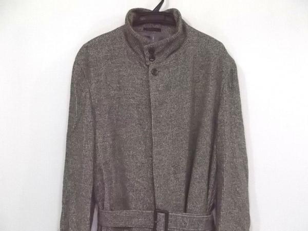 バルー コート サイズ33 メンズ美品  ベージュ×黒×アイボリー ロング丈/冬物