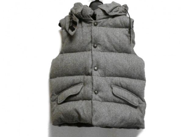 MEN'SBIGI(メンズビギ) ダウンベスト サイズ4 XL メンズ グレー×黒 冬物