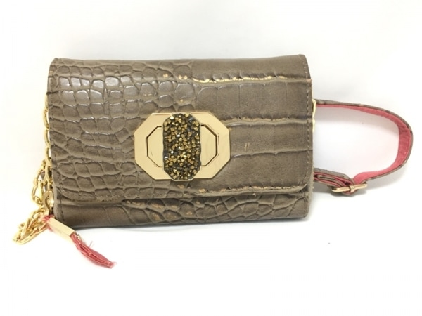 DEUXLUX(デュラックス) 財布 グレー×ゴールド レザー