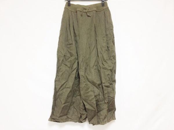 KAPITAL(キャピタル) パンツ サイズS レディース カーキ 変形デザイン