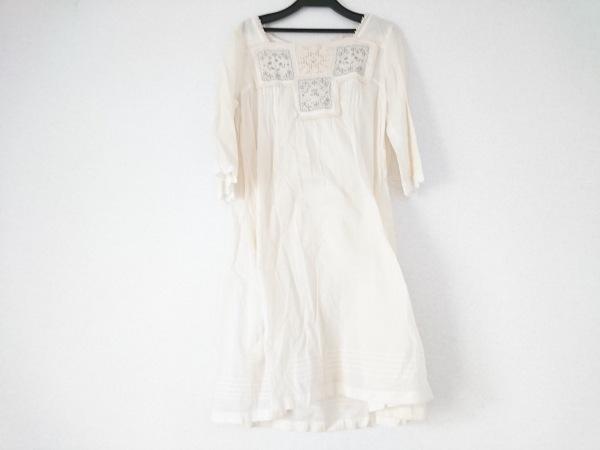ADIEU TRISTESSE(アデュートリステス) ワンピース レディース ベージュ×マルチ 刺繍