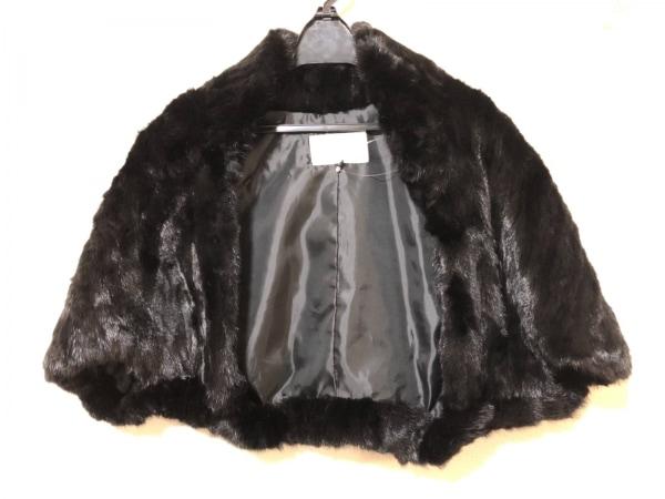 アンシャントマン ジャケット サイズ38 M レディース 黒 ミンクファー