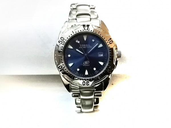 FOSSIL(フォッシル) 腕時計美品  FS-2524 メンズ ネイビー