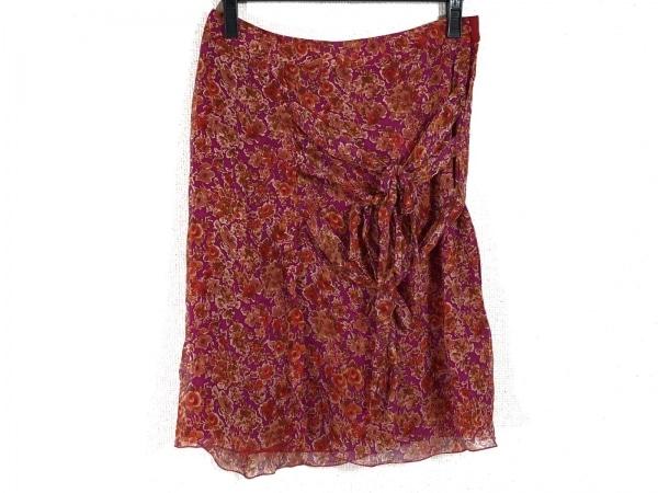 ブルマリン スカート サイズ40 M レディース パープル×レッド×マルチ 花柄