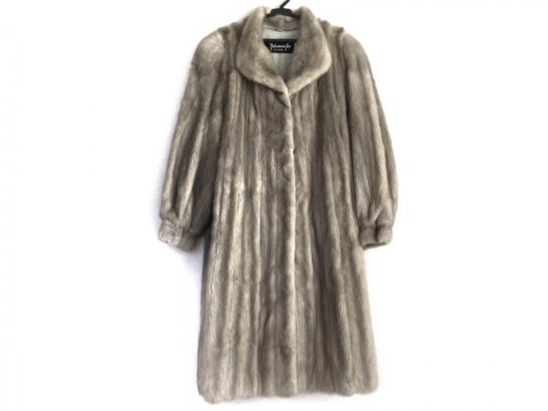 nakamura fur(ナカムラファー) コート レディース ライトグレー 冬物/ファー