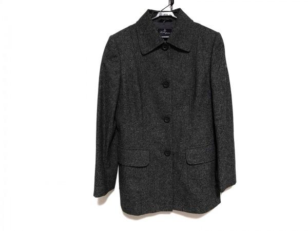 レコパン コート サイズ42 L レディース美品  ダークグレー 肩パッド/冬物