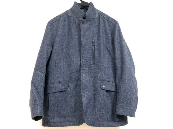 23区 HOMME(ニジュウサンク オム) コート サイズ46L メンズ ネイビー×白 冬物