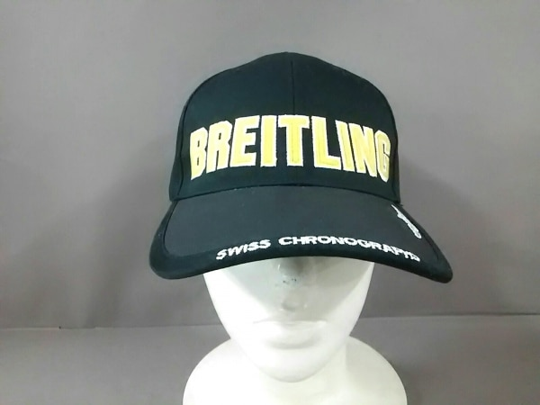 BREITLING(ブライトリング) キャップ 黒×イエロー 刺繍 コットン