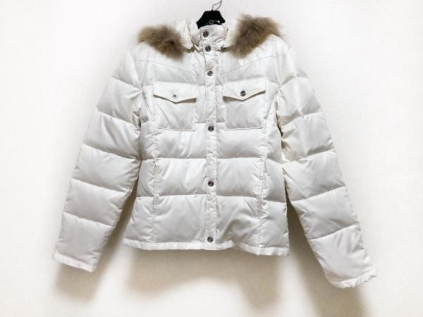 A.S.M(アトリエサブメン) ダウンジャケット サイズ50 メンズ アイボリー ファー/冬物