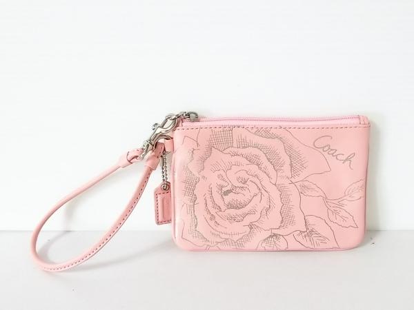 COACH(コーチ) リストレット ジュエルフローラル リストレット - ピンク 花柄 レザー