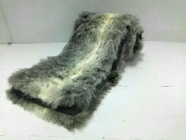TWEEDMILL(ツイードミル) マフラー美品  白×ライトグレー ウール
