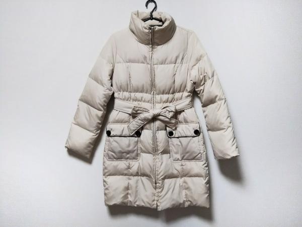 QUEENS COURT(クイーンズコート) ダウンコート サイズ1 S レディース美品  白 冬物