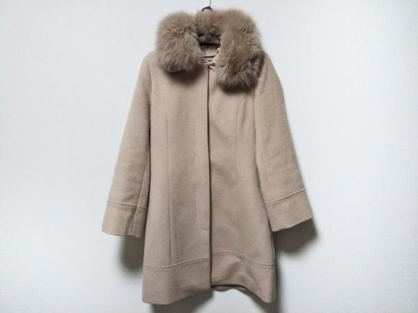 QUEENS COURT(クイーンズコート) コート サイズ2 M レディース ライトブラウン 冬物