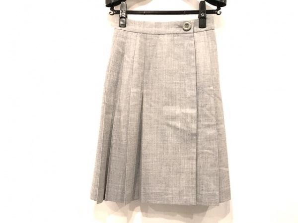 クリスチャンディオール スカート サイズS レディース美品  グレー プリーツ
